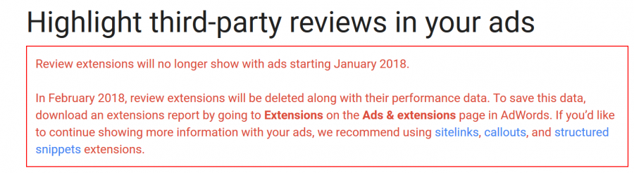 Google to Remove Review Extensions from AdWords - Hyperbrand