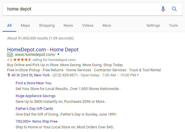 Google AdWords New Sitelinks Align to Mobile - Hyperbrand